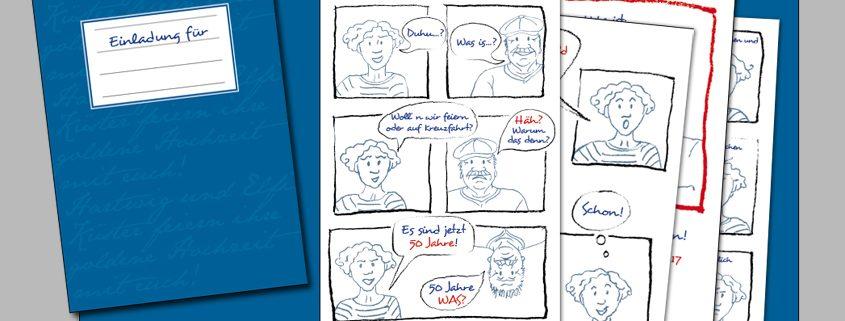 Wenn Kunden zu Comic-Figuren werden | Katja Frauenkron Deichgrafikerin